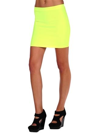 Neon mini skirt by blq. mkt