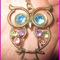 Eule anhänger mit kette vintage style mit kristallsteinen owl necklace halskette | ebay