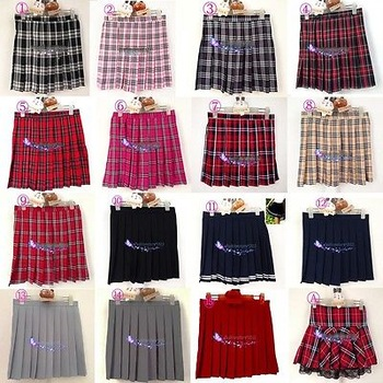 Womens Adult Naughty School Girl Plaid Tartan cosplay uniform Mini Pleated Skirt-in Skirts from Apparel & Accessories on Aliexpress.com