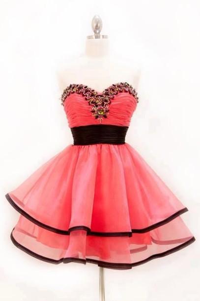 ab587f24b0b dress prom dress pink pink dress strapless dress tutu black sequin dress  sequins sweetheart dress tutu