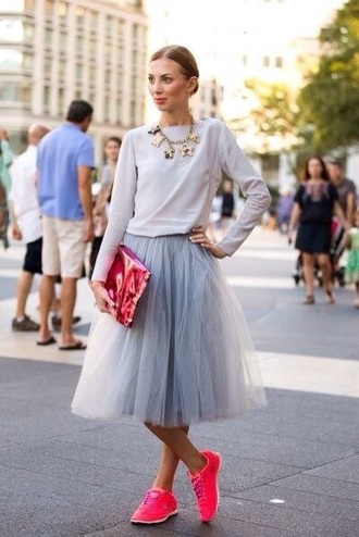 skirt grey beautiful tutu style tulle skirt elegant