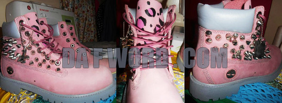 pink shoes timberlands spike boots leopard print hot pink suede spikes leopard