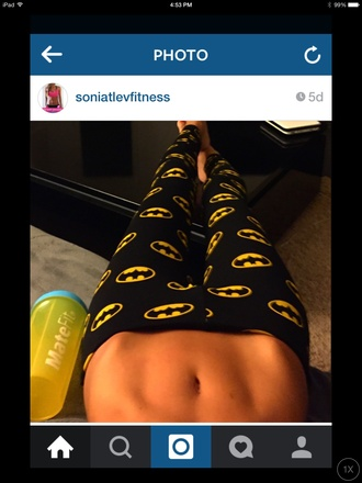 leggings batman black yellow