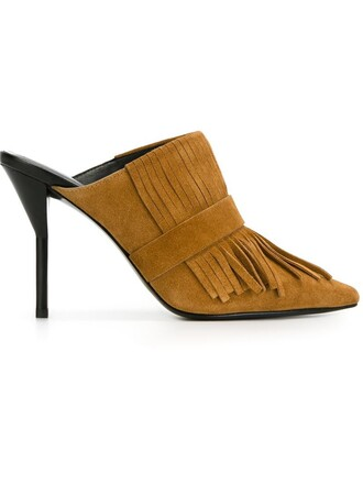 mules brown shoes