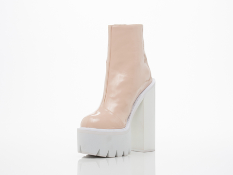 Jeffrey campbell mulder in pink patent white at solestruck.com