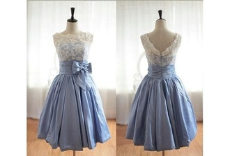 blue dress lace dress knee length dress alice in wonderland