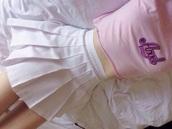 top,pink,peachy,white,cute,baby girl,kawaii,angel,skirt