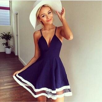 dress blue half long dress blue dress dark blue dresses cute dress drreamtaker post