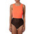 Neon Orange U-Neck bodysuit | Emprada