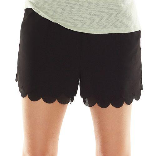 3c2bec4669dca LC Lauren Conrad Scallop-Hem Soft Shorts - Women's