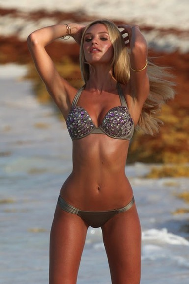 pink jewels swimwear bikini grey