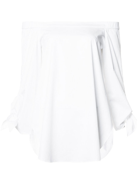Tibi shirt women white cotton top