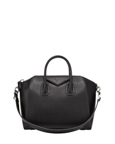 Givenchy antigona medium leather satchel bag, black