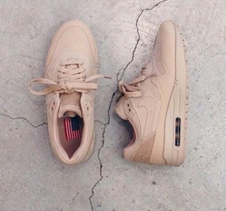 shoes brown beige nike airmax1 air max airmax 90' usa america