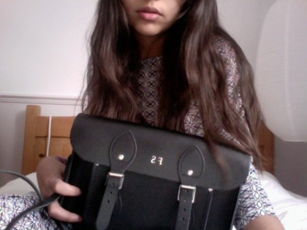 bag satchel black tumblr