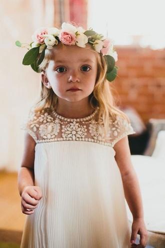 dress white wedding clothes girl