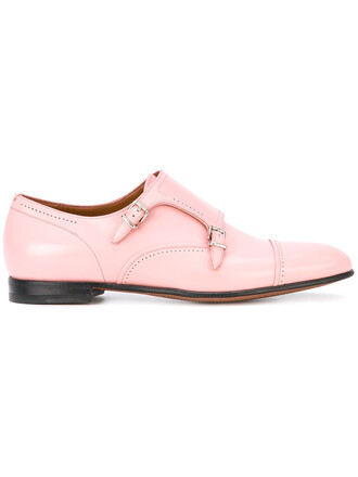 women shoes leather purple pink