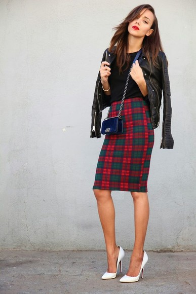 burberry jacket leather jacket bag chanel skirt shoes high heels ashley madekwe