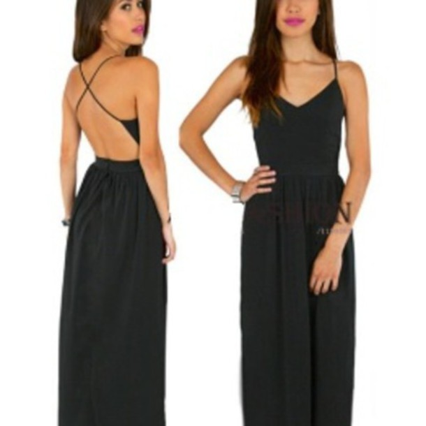 Dress Fashion Black Maxi Maxi Dress Black Dress Black Maxi