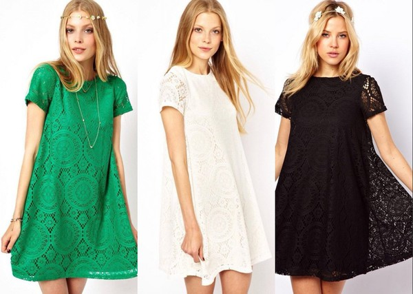 2014 summer summer dress lace dress a line short dress dress