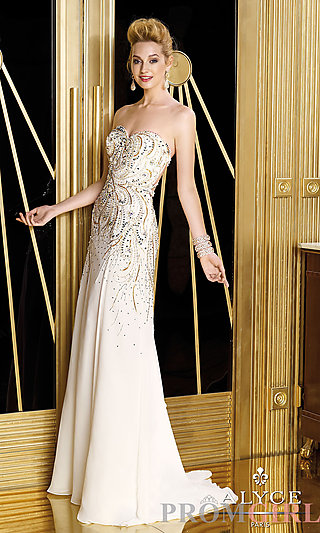 Prom Dresses, Celebrity Dresses, Sexy Evening Gowns - PromGirl: Alyce Paris Floor Length Dress 6189