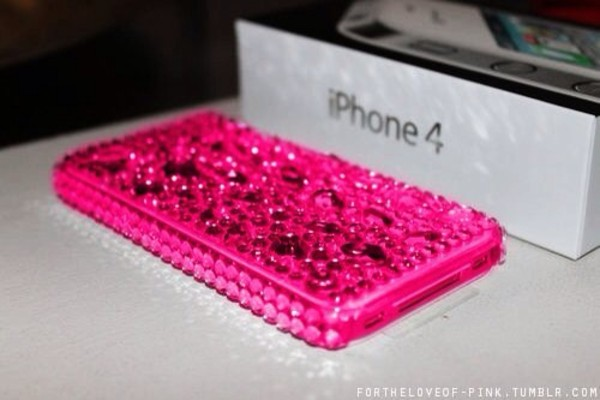 jewels iphone case pink cute