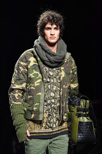 sweater runway balmain fashion week 2017 menswear mens sweater jacket camouflage camo jacket fashion week