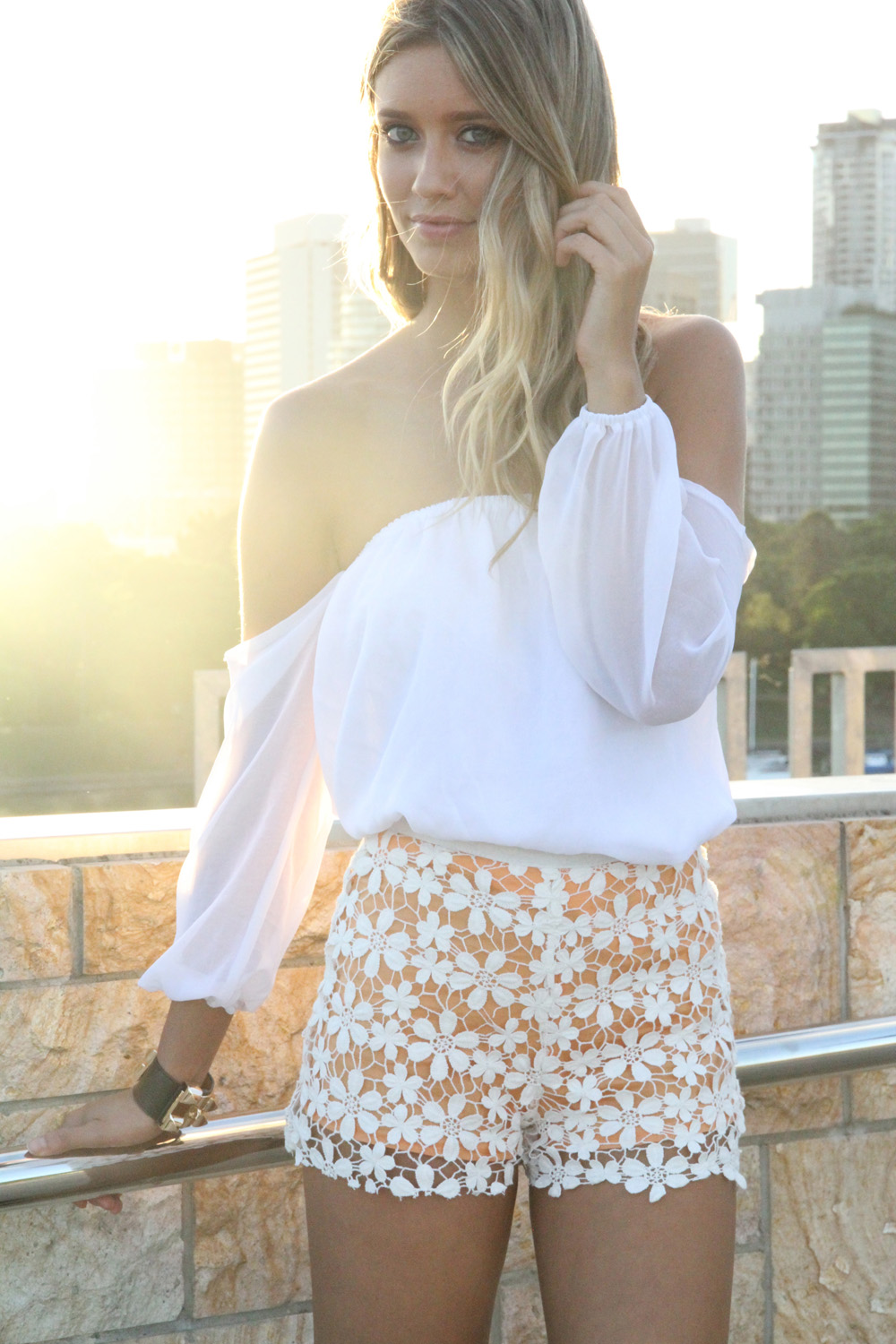 Sabo skirt  flower shorts