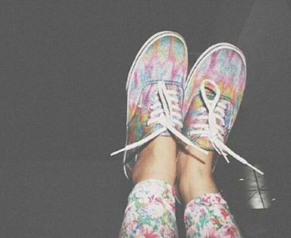 sneakers vans girl vans girls colorful multicolor classical different original