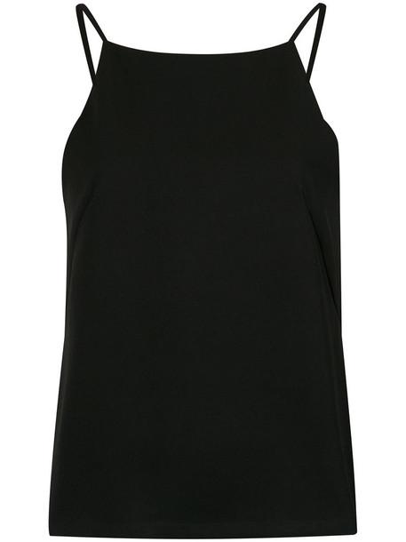 Olympiah tank top top women spandex black