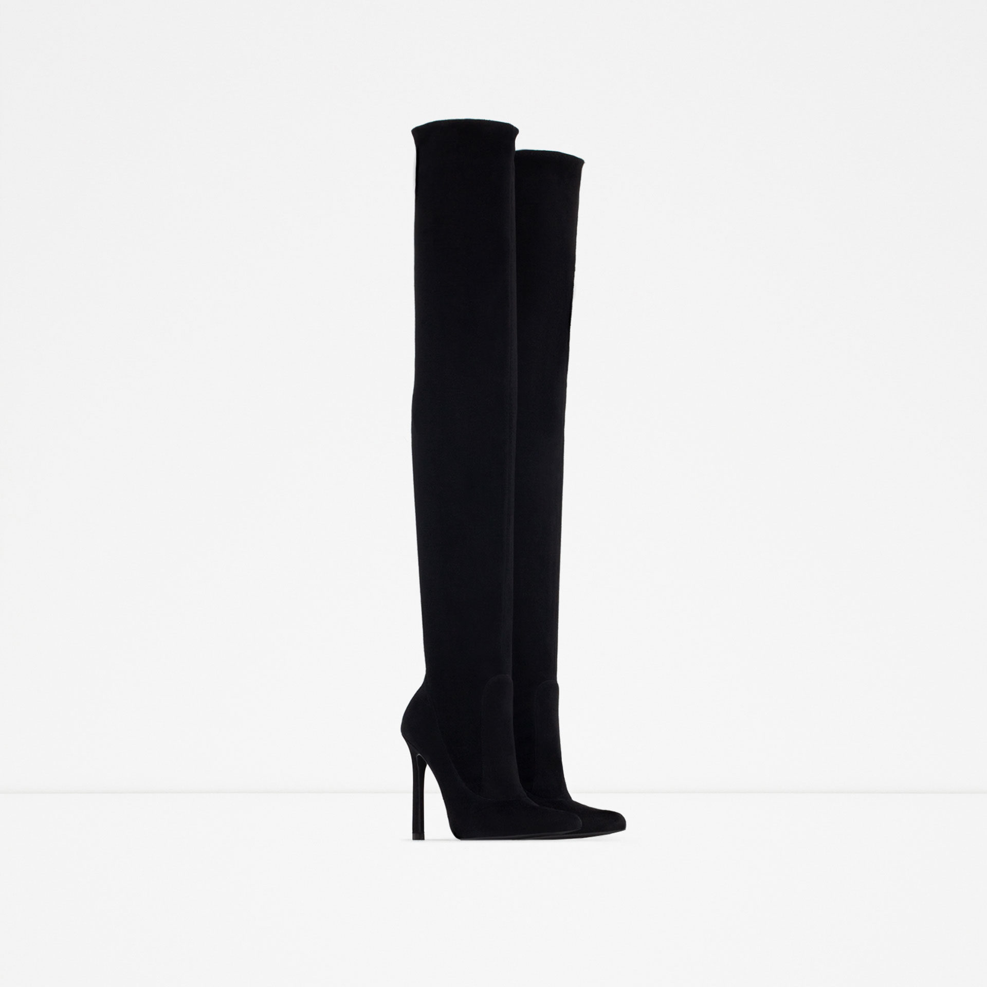 9199ac93a61 OVER THE KNEE HIGH HEEL LEATHER BOOTS - View all - Shoes - WOMAN | ZARA  United States