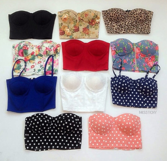 blouse tops lingerie bustier crop tops