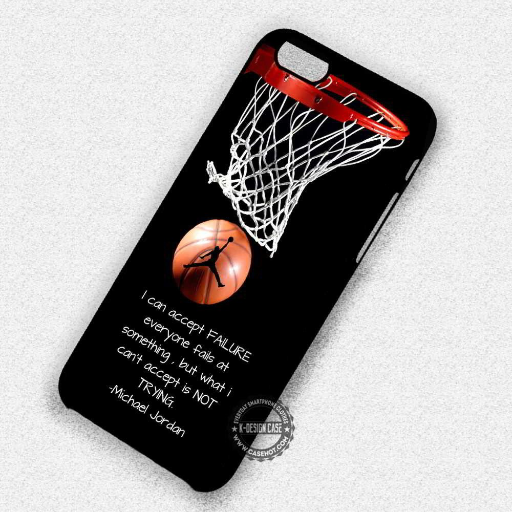 finest selection f57d7 7a682 Quotes of Sport Player Michael Jordan - iPhone 7 6 Plus 5c 5s SE Cases &  Covers