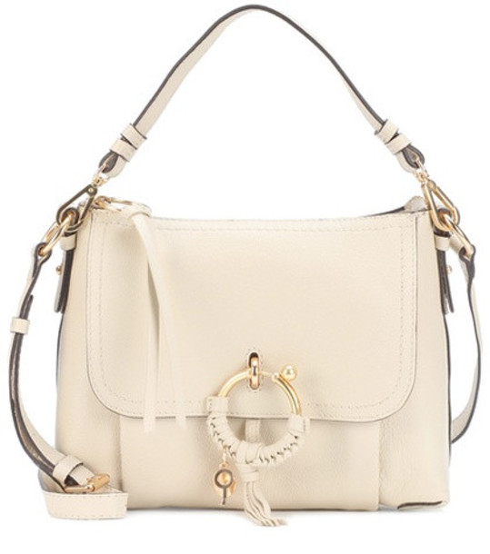 See By Chloé Joan Small leather shoulder bag in beige / beige
