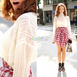 Lace Knitted Fringed Tops Shirt