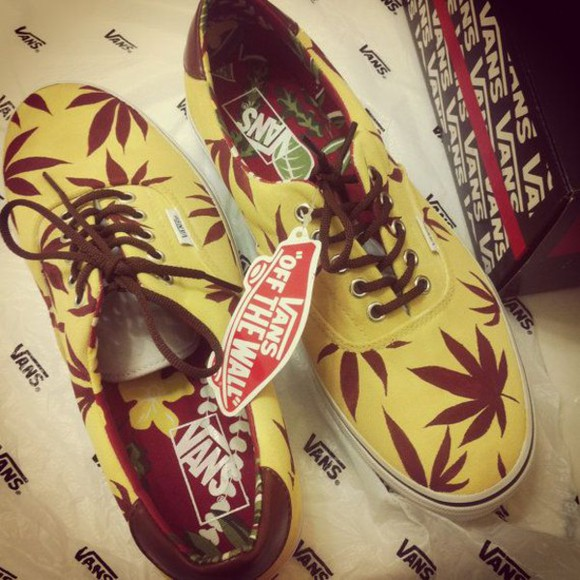 shoes vans feuilles de cannabis