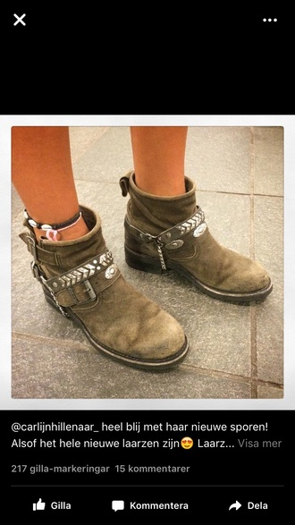 shoes taupe army green grey booties boots brown