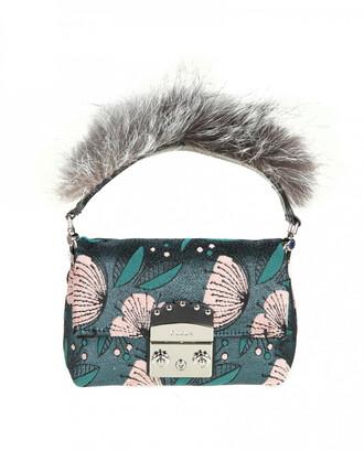 mini fur bag