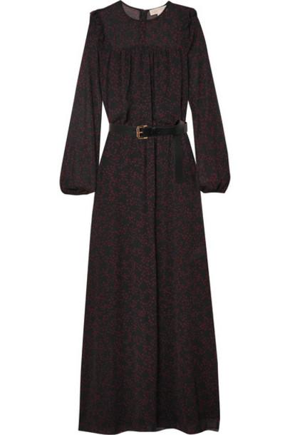 MICHAEL Michael Kors dress maxi dress maxi chiffon black