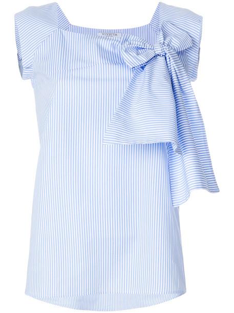 VIVETTA vest bow women cotton blue jacket
