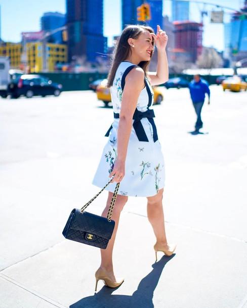 Blue dress heels and bag