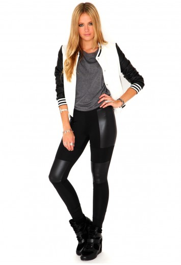 best shoes reputation first professional design Olivita Leather Patch Premium Leggings- leggings- missguided