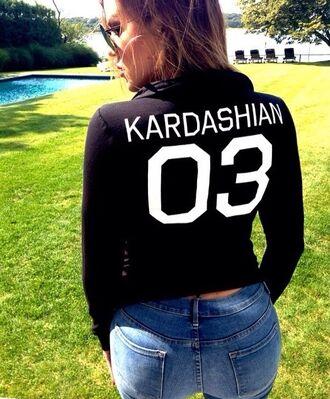 kardashians khloe kardashian jumper hoodie o3 top