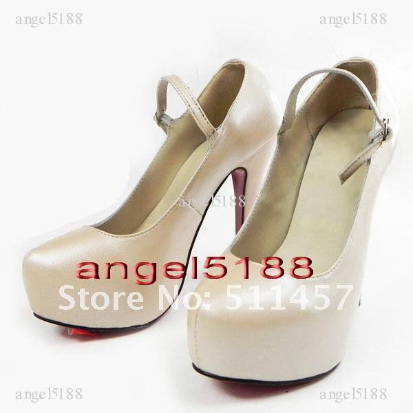 Women's shoes Free shipping cream leather Women's high heel pumps shoes-in Pumps from Shoes on Aliexpress.com
