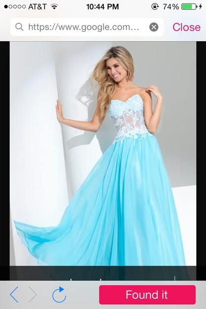 dress mint blue prom dress flowers see through sexy