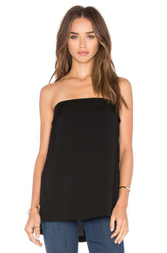 top strapless top strapless black