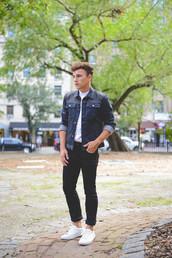 scout sixteen,blogger,jacket,jeans,menswear,denim jacket,hipster menswear
