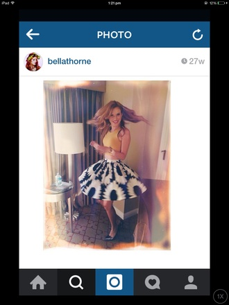 skirt black and white flowers bella thorne