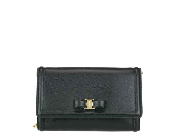 Salvatore Ferragamo bow bag shoulder bag black