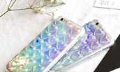 phone cover,iphone cover,iphone case,heart,holographic